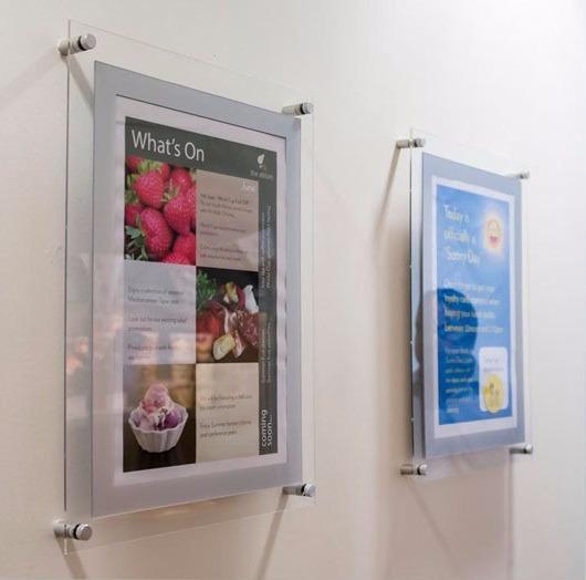 Porta poster acrilico 40x60 cm pizarron marco - Marcos para posters ...