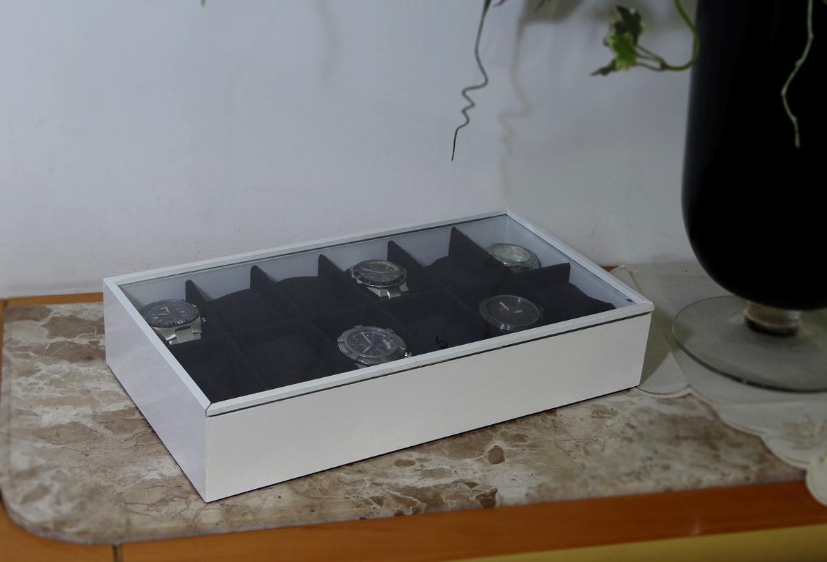 74913ebc164 Porta Relógio C/12 Divisões Branco - Pd 5007 - R$ 157,90 em Mercado Livre