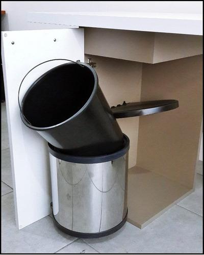 porta residuos acero inoxidable 10 lts - herrajes bonzini