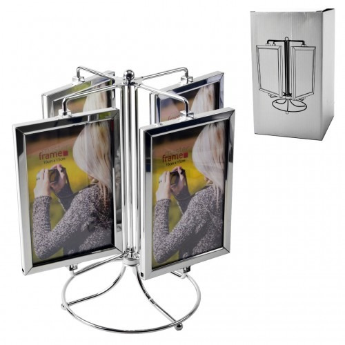 porta retrato 10 x 15 carrossel  8 fotos com base giratória