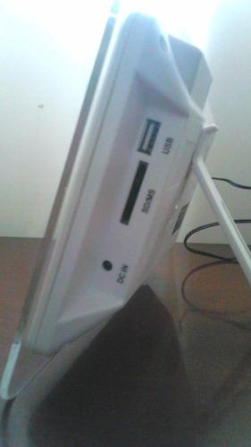 porta retrato 7 polegadas digital branco suporta sd e usb