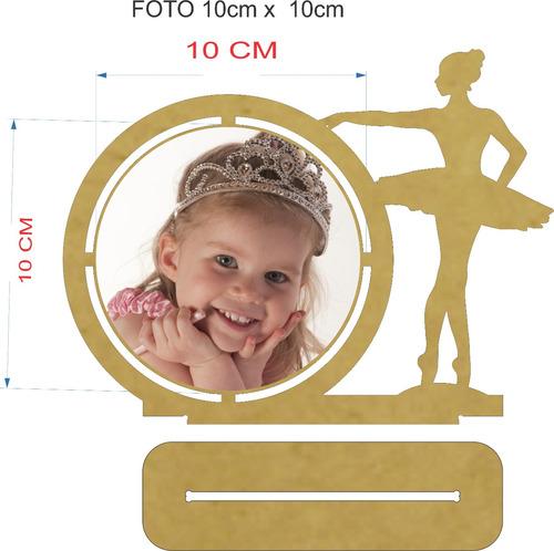 porta retrato bailarina - mdf cru - kit com 70 peças
