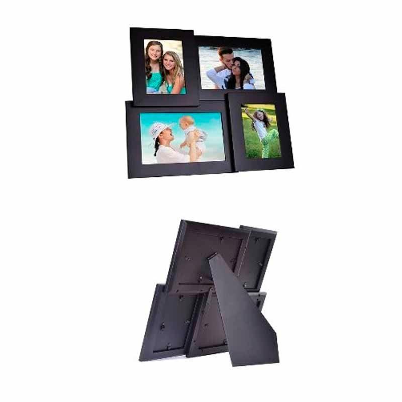 Porta Retrato Collage 4 Fotos Pandigital 4/6 / 5x7 X2 Bk - U$S 31,00 ...