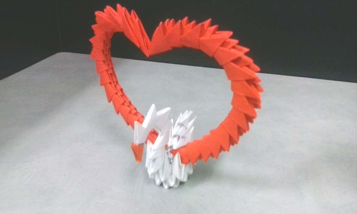 Porta Retrato De Corazon De Origami 10000 En Mercado Libre - Origami-corazn