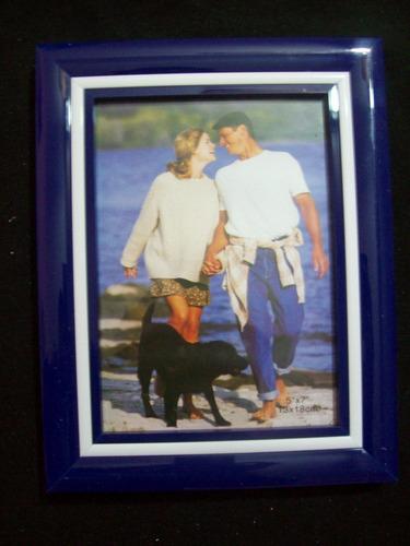 porta retrato de mesa para foto 13 x 18 cm azul marino