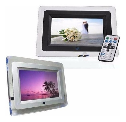 porta retrato digital 7 polegada usb mp3 video + controle