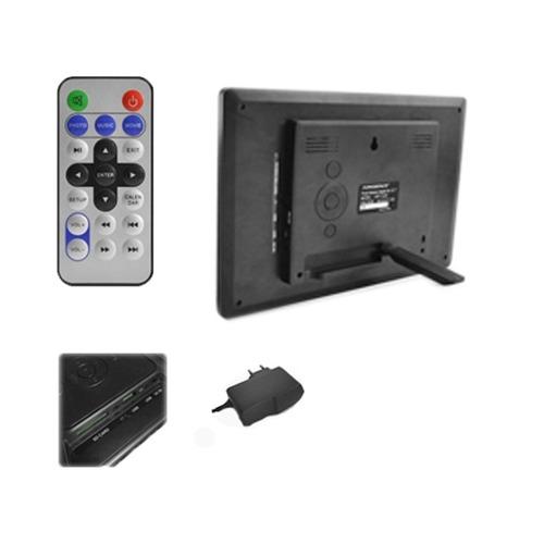 porta retrato digital powerpack tela 10.2'' - usb/mp3/mp4