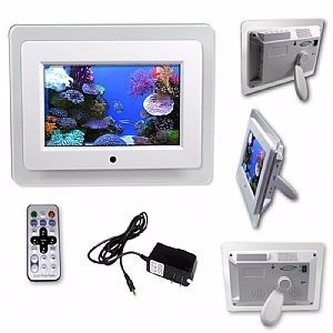 porta retrato digital tela 7 controle remoto usb pendrive sd