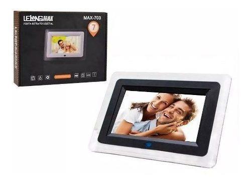 porta retrato digital tela 7 controle remoto usb sd pendrive