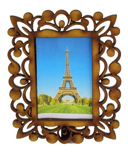 porta retrato marco para fotos de 3,5x4,5 cm en madera mdf