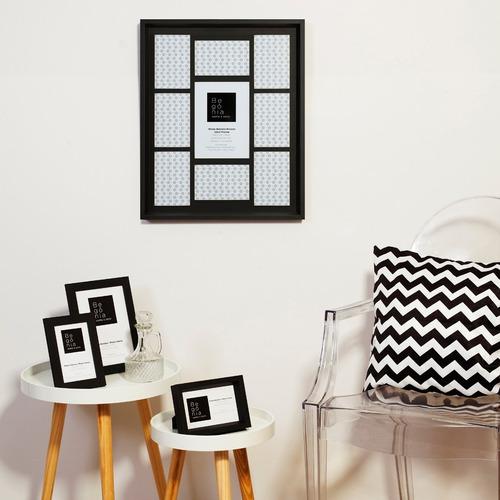 porta-retrato parede premium 9 fotos 10x15cm/15x21cm begônia