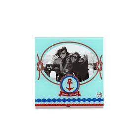 Porta Retrato Vidro Navy Azul Amar É Preciso