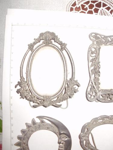porta retratos de metal, originales, peltre, rigidos, nuevos