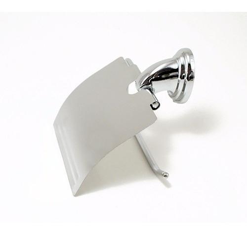 porta rollo papel higienico bronce cromado baño