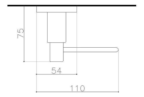 porta rollo robinet ibizia tee terminación en cromo