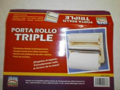 porta rollos triple marca alfa hogar