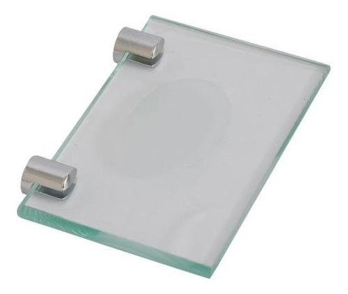 porta sabonete p/banheiro  vidro 10 mm- lançamento
