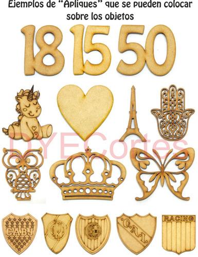 porta sahumerios madera fibrofacil souvenirs regalos 15años