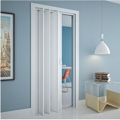 porta sanfonada em pvc 210x70cm branca