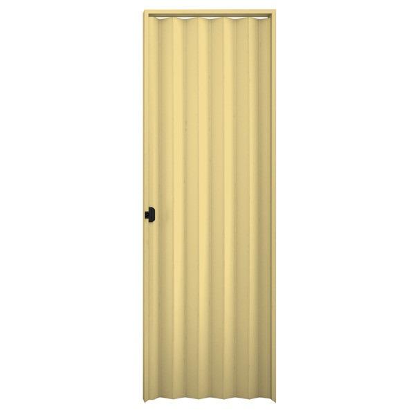porta sanfonada pvc 80 x 210 cm bege plasbil r 97 88