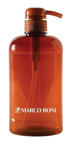 porta shampoo 500 ml com válvula pump de viagem marco boni