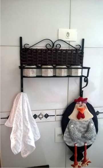 Porta Shampoo Ferro Vime Decoração Banheiros  R$ 60,00 em Mercado Livre -> Porta Para Banheiro Pequeno Mercado Livre