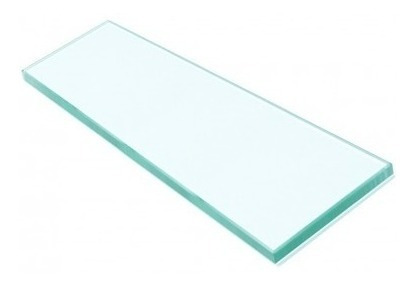 porta shampoo em vidro comum incolor 8 mm 400 x 100 mm