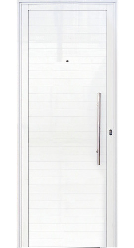 porta social lambril branco com puxador 2,10 x 1,00 esquerda