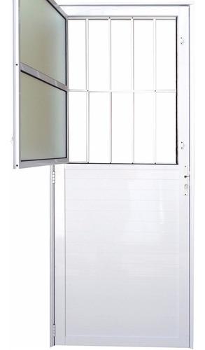 porta social postigo lambril alumínio branco 2,10 x 0,80 dir