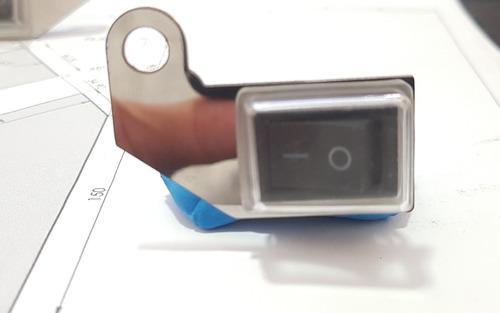 porta switch en acero switch moto interruptor moto switch