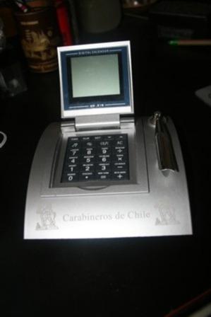 porta taco calculadora y calendario carabineros de chile