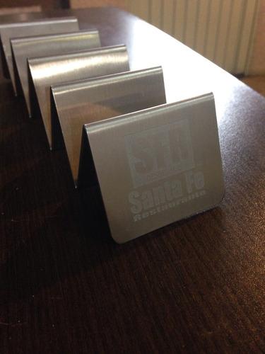 porta tacos de acero inoxidable, grabado personalizado