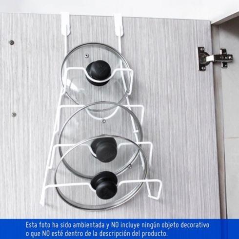 porta tapas para puerta cocina resistente organizador hc
