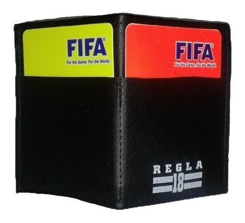 porta tarjetas arbitro anotador lapiz referee regla 18 xviii