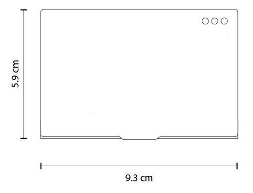 porta tarjetas de presentación tarjetero aluminio bolsillo