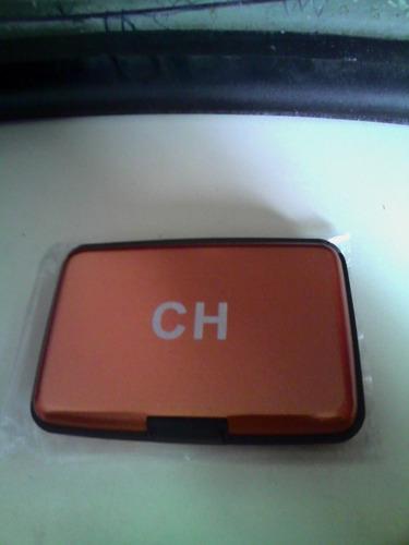 porta tarjetas mk y ch alumma wallet