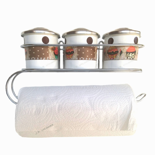 porta tempero condimento papel toalha potes decorado 002