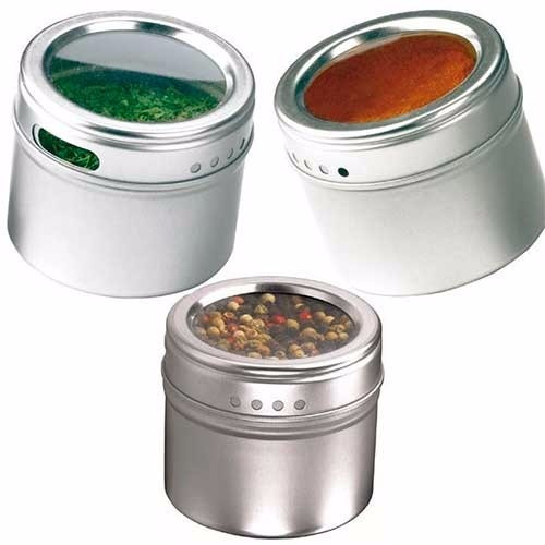 Porta temperos e condimentos com im em a o inox 12 potes for O que e porta condimentos