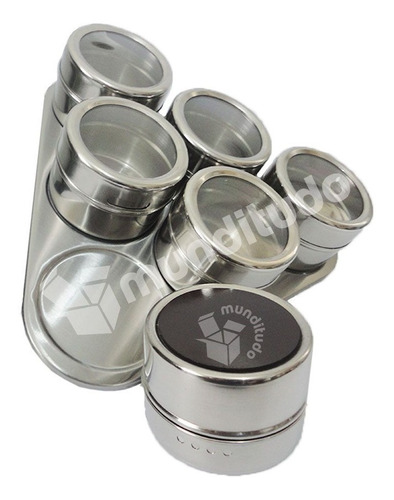 porta temperos condimentos aço potes