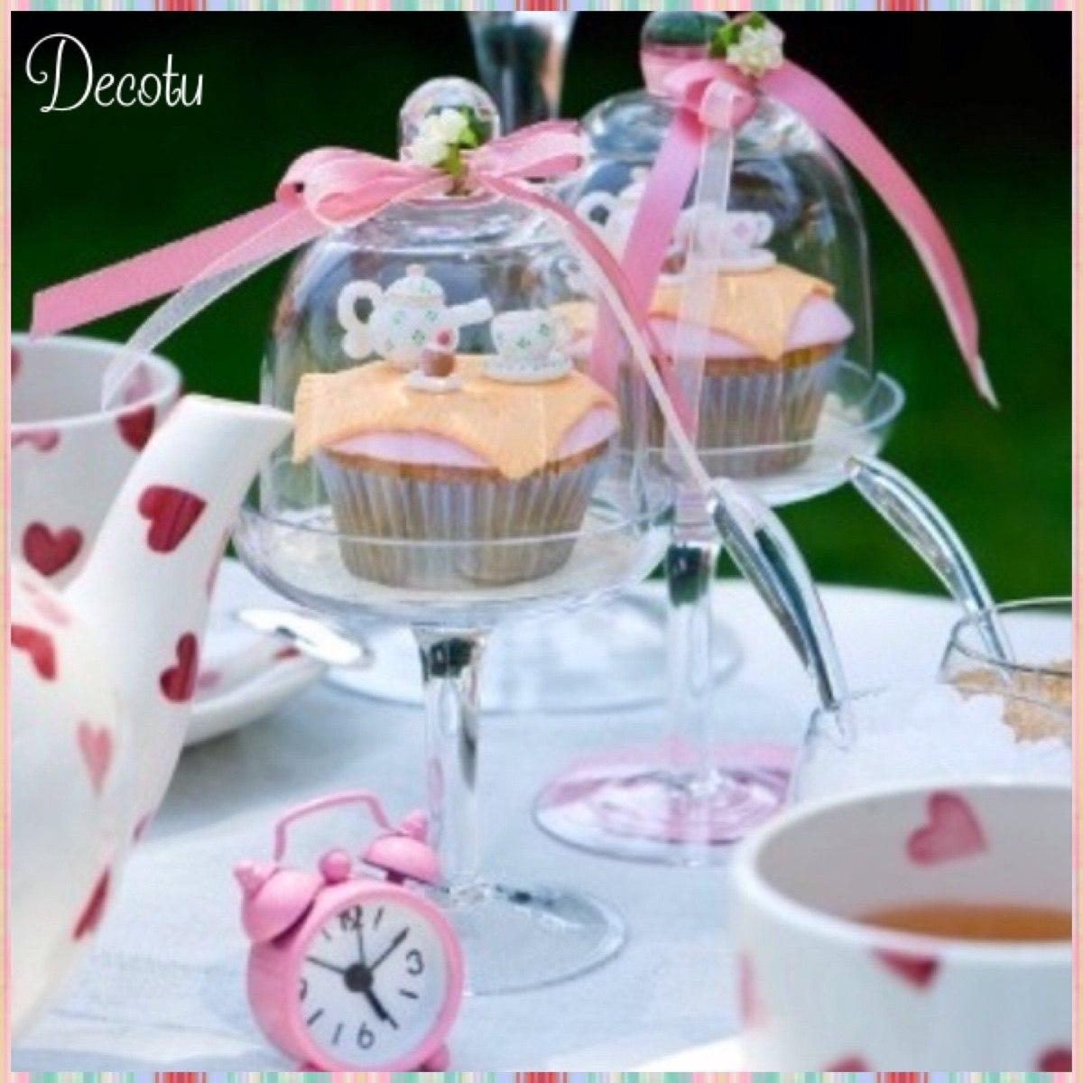 Porta torta cupcake vidrio base candy bar mesa dulce for Base de cristal para mesa