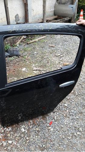 porta traseira esquerda sandero 2009 a 2014 original