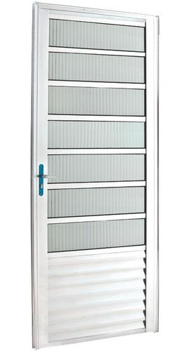 porta travessa de alumínio  210 x 90 branca