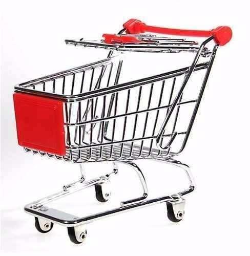porta treco mini carrinho compras supermercado s