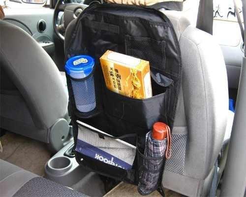 porta trecos para banco de carro organizador com bolsos