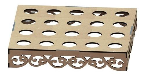porta tubetes decoração festa provençal mdf  01-04