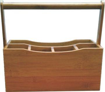 porta utensilio em bambu -pincel talher ferramenta jardim...