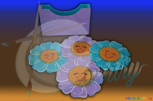 porta vasos flor *4 arte country