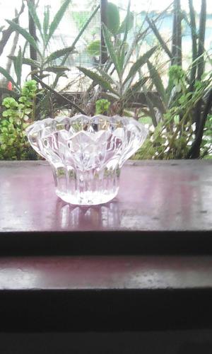 porta vela de cristal