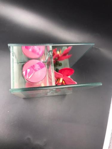 porta vela de vidrio