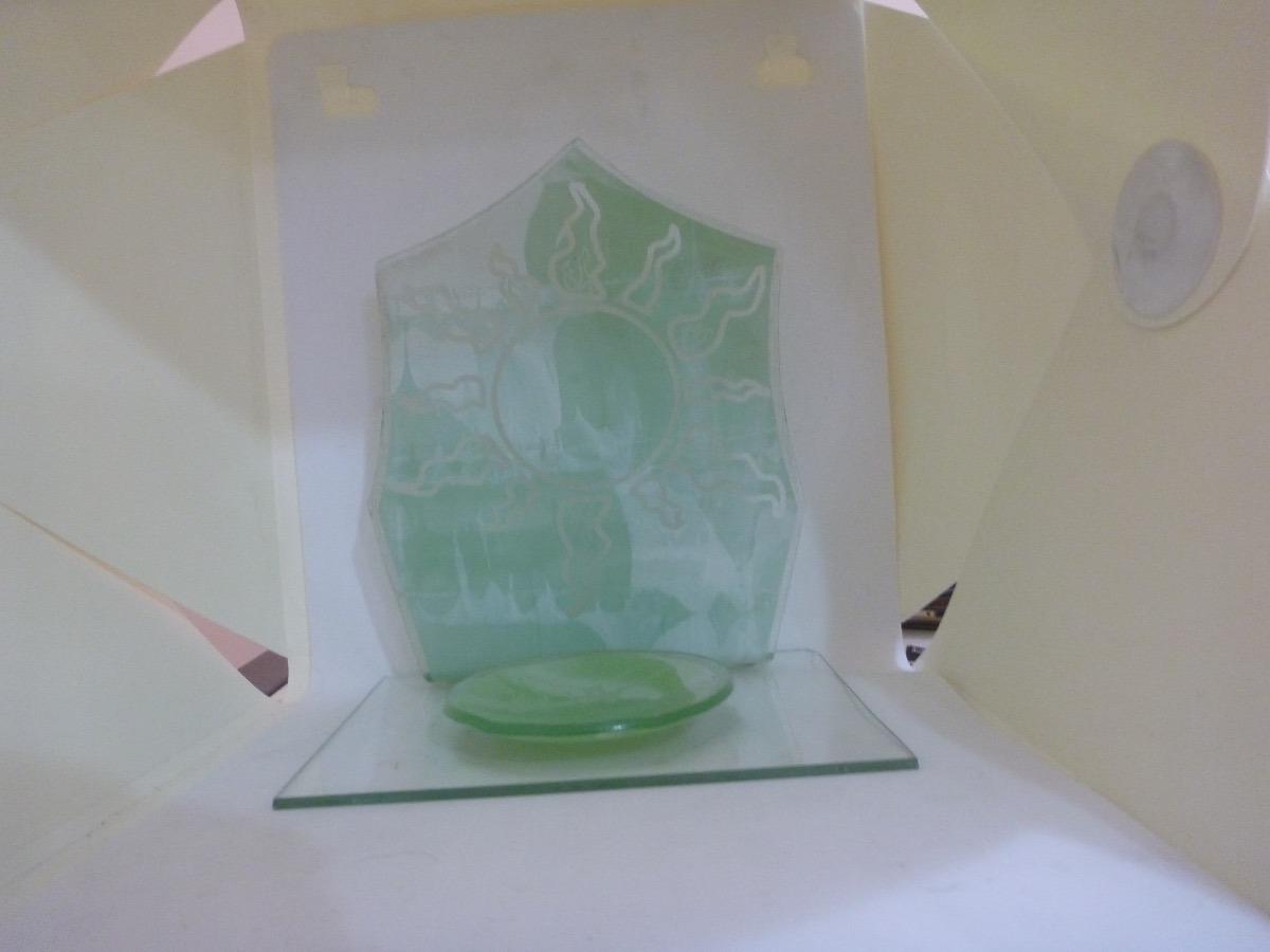 9deff4f63c porta vela murano mesa cristal sol verde 17cmx15cmx12cm. Carregando zoom.